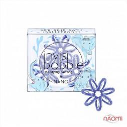 Резинка-браслет для волосся Invisibobble NANO Bad Hair Day, колір блакитний, 3 шт., 20х3 мм