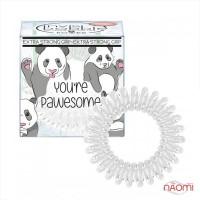 Резинка-браслет для волос Invisibobble POWER Youre Pawesome, цвет белый, 3 шт, 40х25 мм
