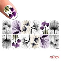 Слайдер-дизайн 1290 Цветы, акварель