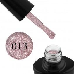 Гель-лак G.La color Illumi Rose 013 рожевий крем з блискітками і слюдою, 10 мл