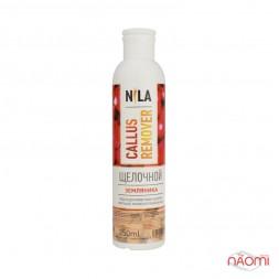 Лужний пілінг для педикюру Nila Callus Remover суниця, 250 мл