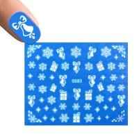Слайдер-дизайн D 267 Снежинки, подарки, колокольчики