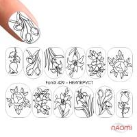 Слайдер-дизайн Нейлкруст Fonix 429 Цветы