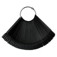 Типсы для образцов на кольце прямоугольные 10 см, 50 шт., черные