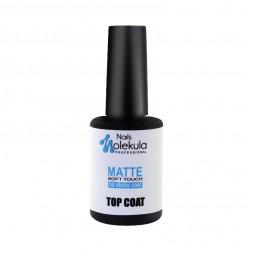 Топ матовый для гель-лака без липкого слоя Nails Molekula Matte Soft Touch No Sticky Top Coat, 12 мл