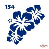 Трафарет для временного тату Цветы №154 6х6 см