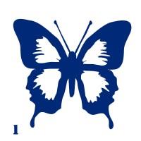 Трафарет для тимчасового тату Метелик 001, 6х6 см