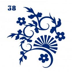 Трафарет для временного тату Цветы 038, 6х6 см