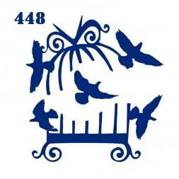 Трафарет для временного тату Птицы 448 6х6 см