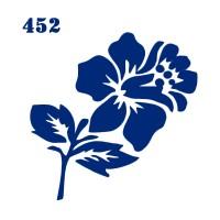 Трафарет для временного тату Цветы 452 6х6 см