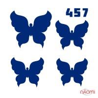 Трафарет для временного тату Бабочки 457 6х6 см