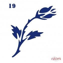 Трафарет для тимчасового тату Квіти 019, 6х6 см