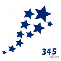 Трафарет для временного тату 345 Звезды, 6х6 см