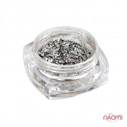 Зеркальная втирка Юки HS-2 Galaxy Holo, цвет серебро, 0,2 г